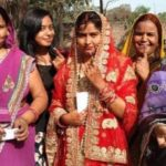 Kaiserganj, Gonda, Voting, Bride, Democracy, Lok Sabha Elections,Loksabha election 2019,new bride arrive to vote on booth