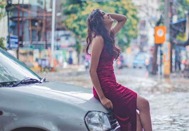 girl photoshoot in patna flood