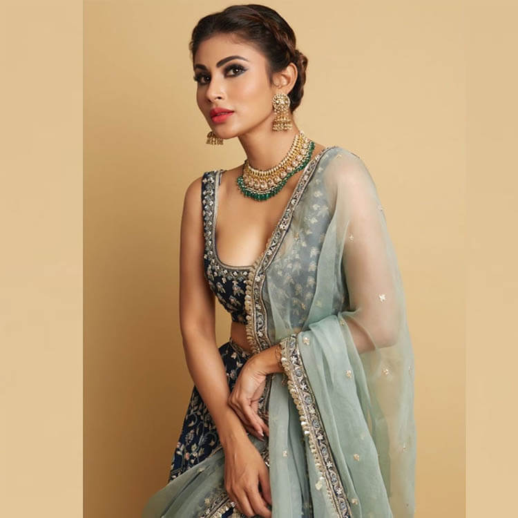 mouni roy traditional look