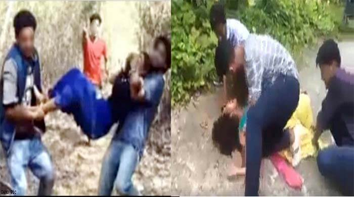 Gangrape with girl in forest