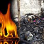 three child burn alive in gujrat