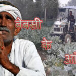 farmer runs tractor over cauliflower